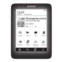 "Электронная книга Digma S676 6"" E-Ink Carta 1024x758 Touch Screen 600MHz 128Mb/4Gb/microSDHC/frontli"